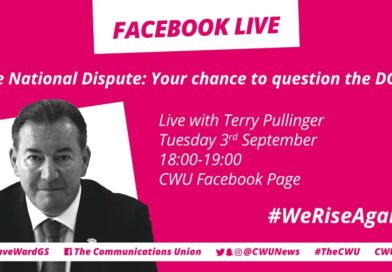 FACEBOOK LIVE WITH TERRY PULLINGER